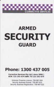 Hire Armed guard in Melbourne Victoria