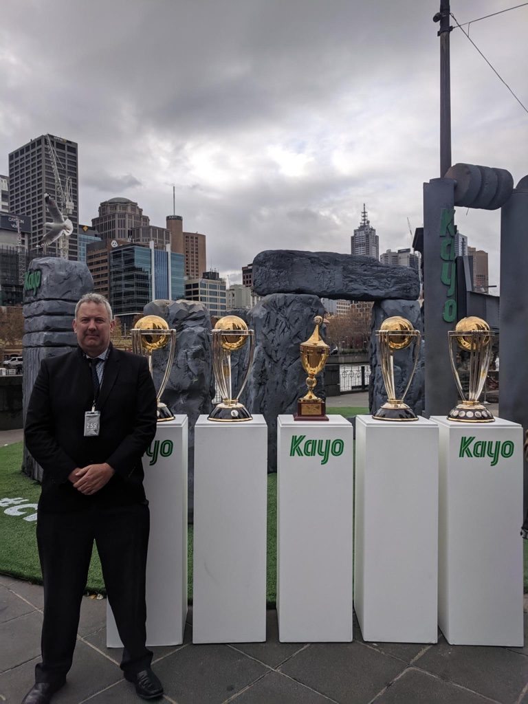 ICC Cricket World Cups ! Our service was to provide secure transport to and from site and Bodyguard these Treasures #Queensbridgesquare #securityguardsmelbourne #bodyguard #bodyguards #securityguard #iccworldcup2019 #icc #iccworldcup #bodyguardservices